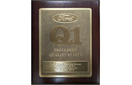 Ford Q1 certified
